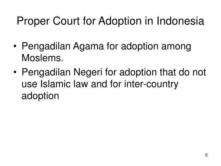 Proper Court for Adoption in Indonesia