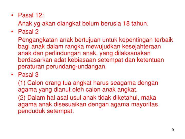 Pasal 12: