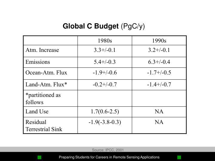 Global C Budget