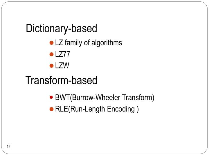Dictionary-based
