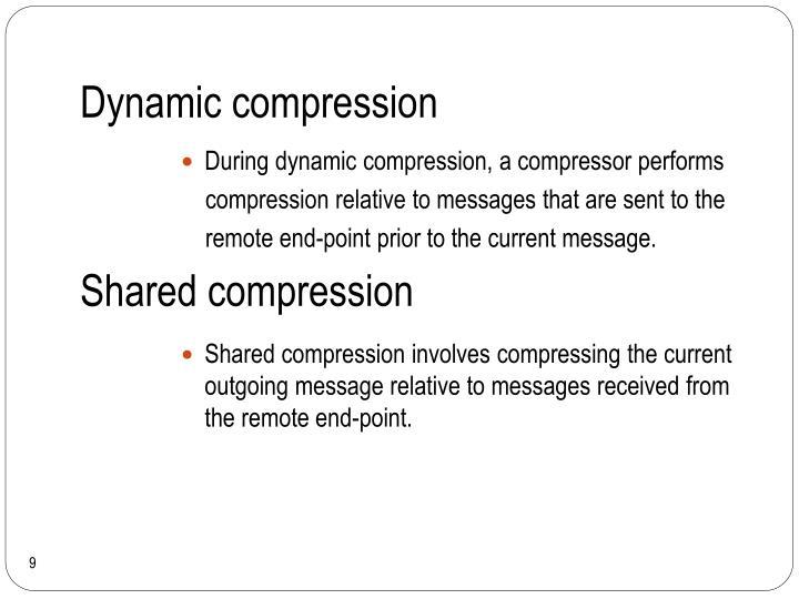 Dynamic compression