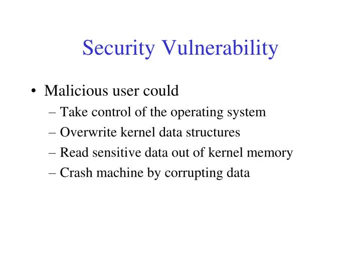 Security Vulnerability