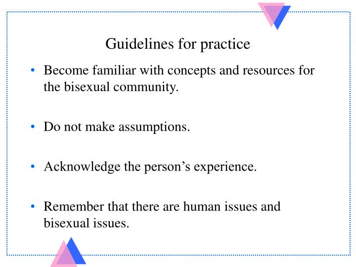 Guidelines for practice