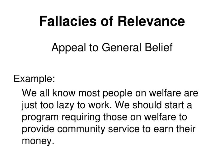 Fallacies of Relevance