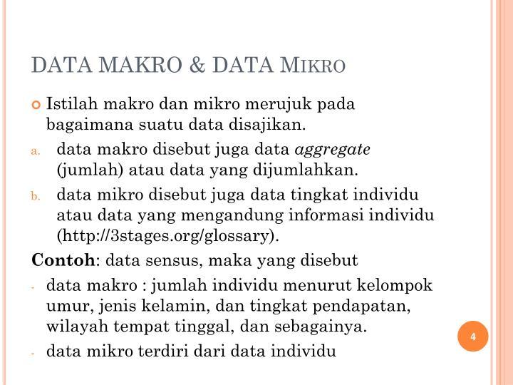 DATA MAKRO & DATA