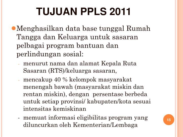 TUJUAN PPLS 2011
