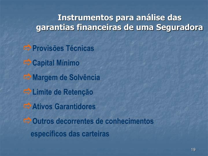 Instrumentos para análise das