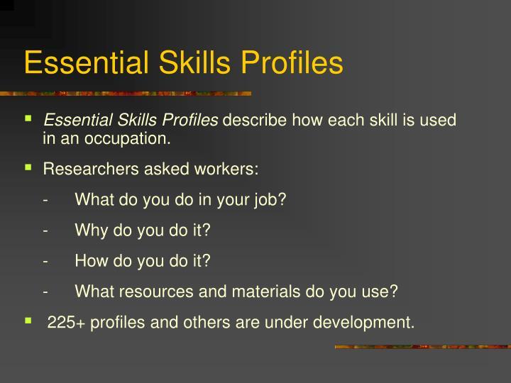 Essential Skills Profiles
