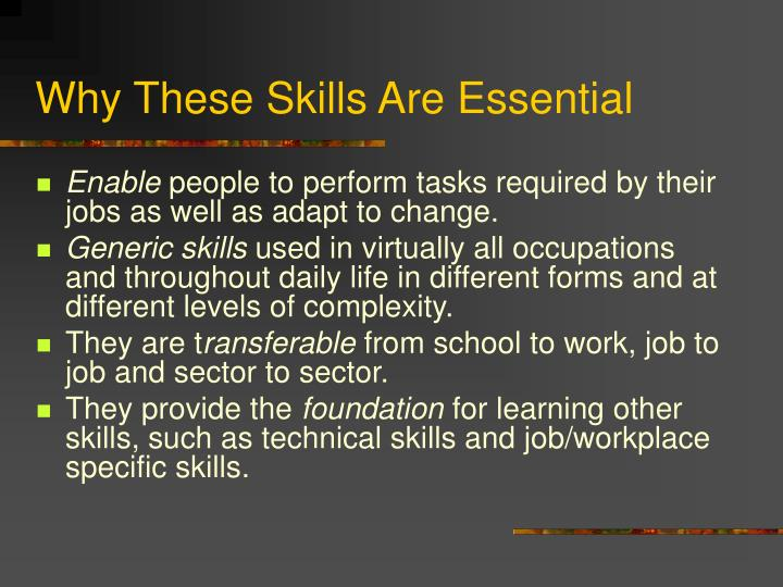 Why These Skills Are Essential