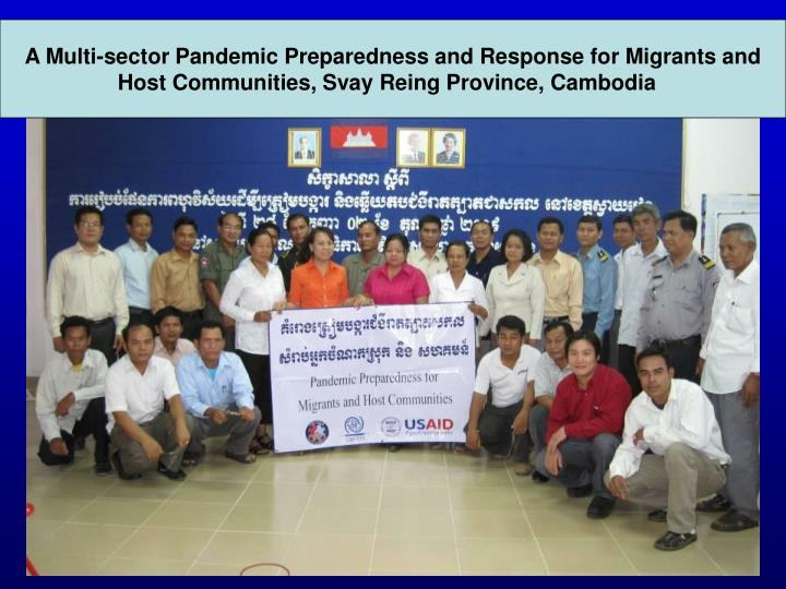 A Multi-sector Pandemic Preparedness and Response for Migrants and