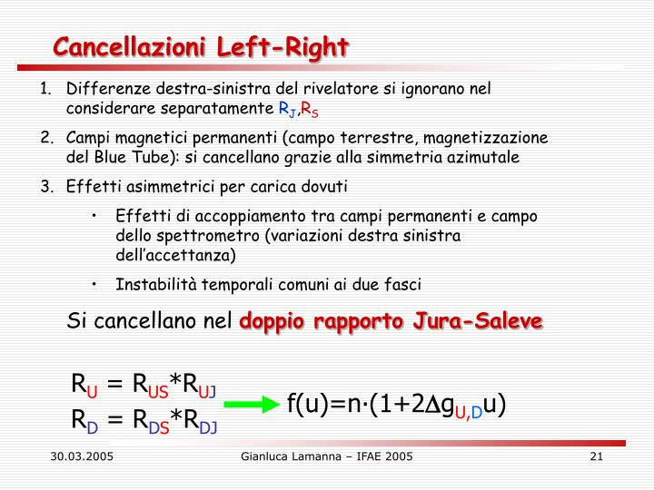 Cancellazioni Left-Right