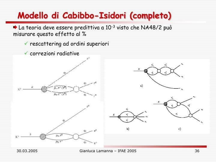 Modello di Cabibbo-Isidori (completo)