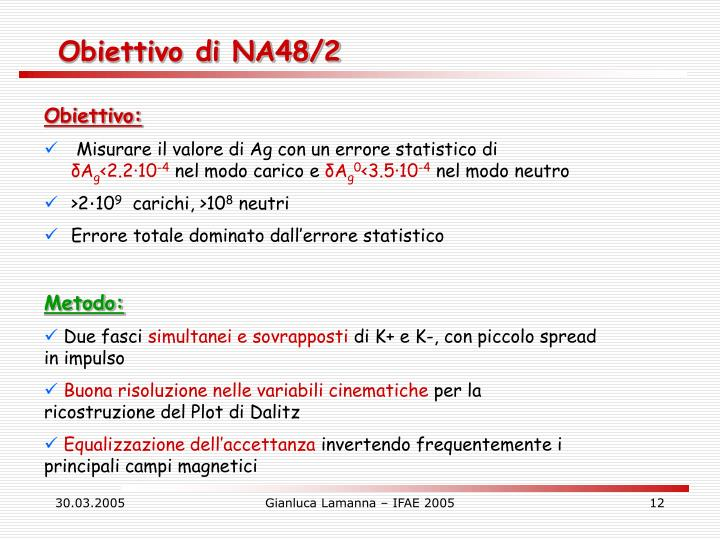 Obiettivo di NA48/2