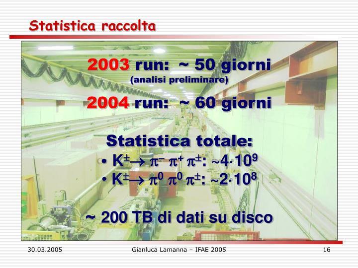 Statistica raccolta