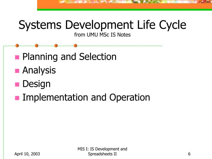 Ppt Is Development And Spreadsheets Ii Powerpoint Presentation Id 4736122