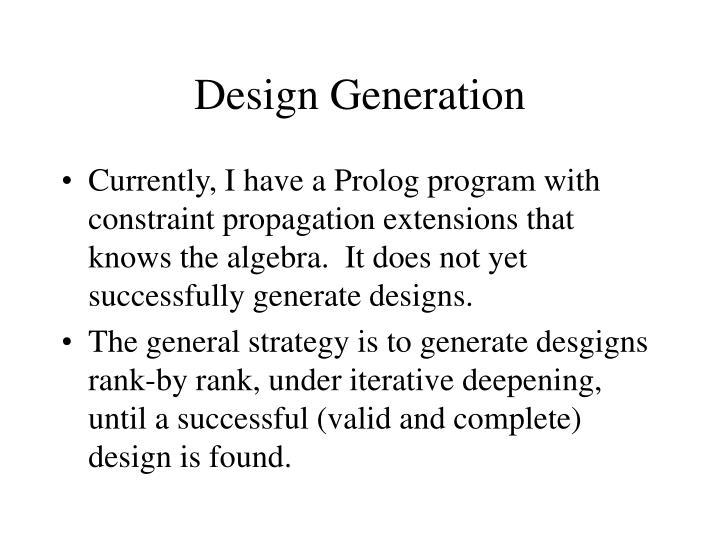 Design Generation