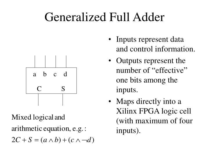 Generalized Full Adder