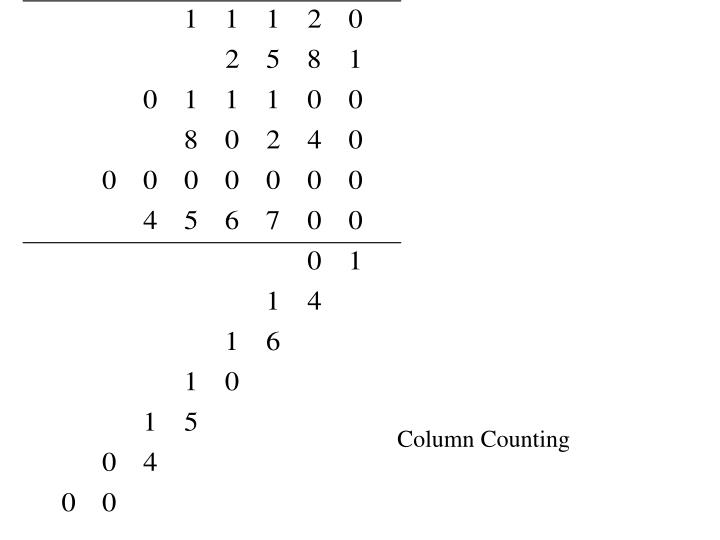 Column Counting