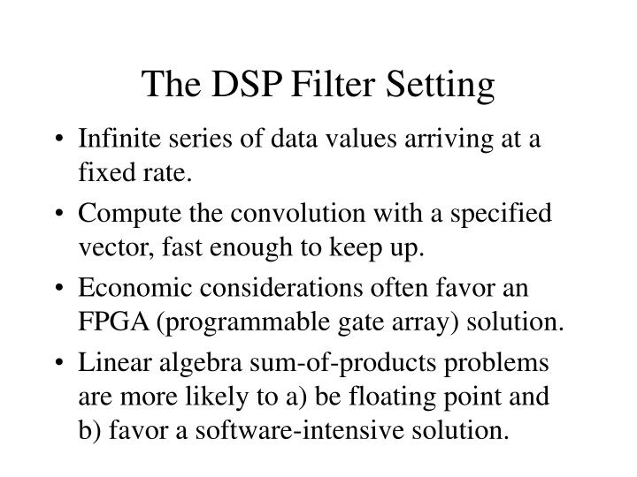 The DSP Filter Setting