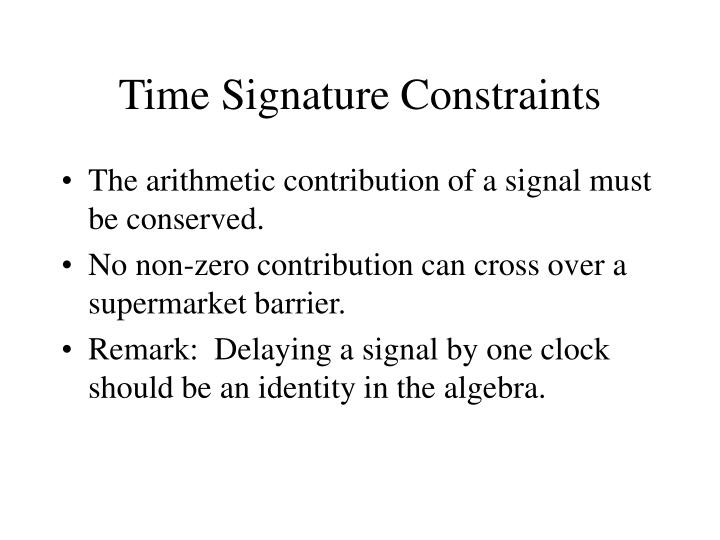 Time Signature Constraints