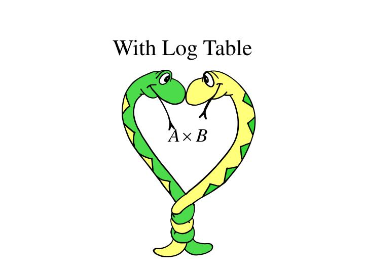 With log table