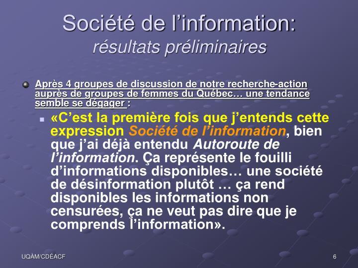 Société de l'information:
