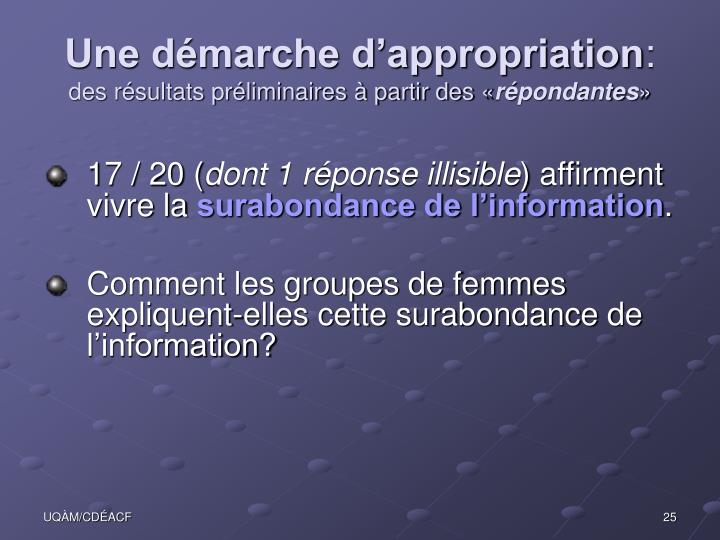 Une démarche d'appropriation