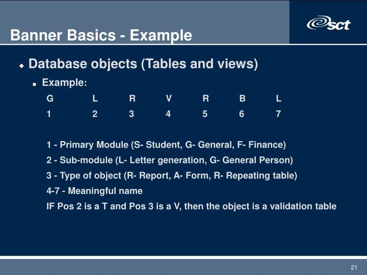 Banner Basics - Example