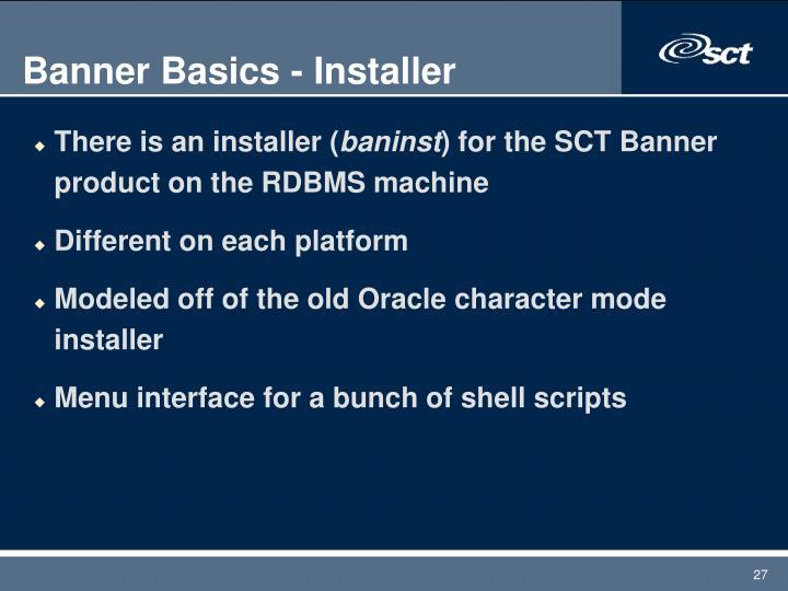 Banner Basics - Installer