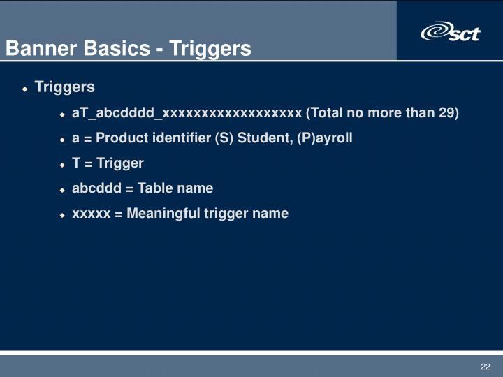 Banner Basics - Triggers