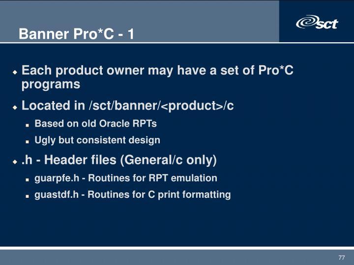 Banner Pro*C - 1