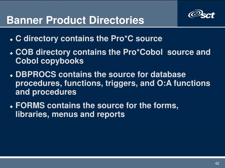 Banner Product Directories