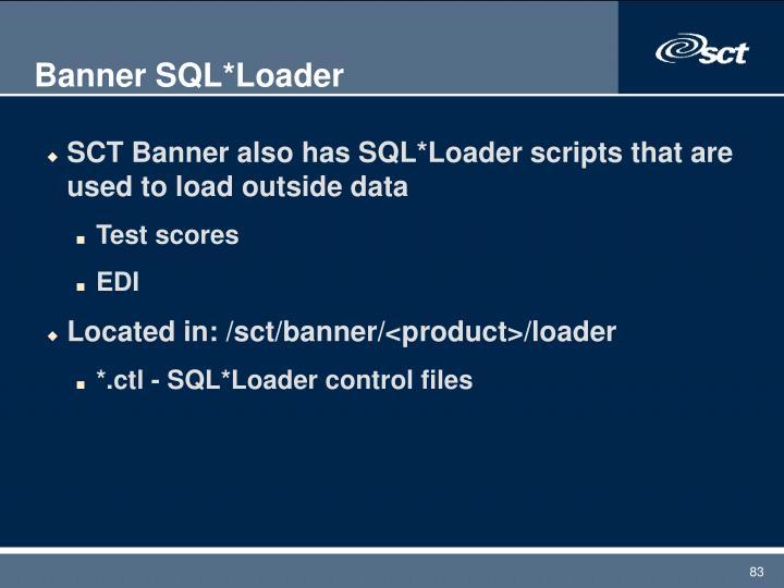 Banner SQL*Loader