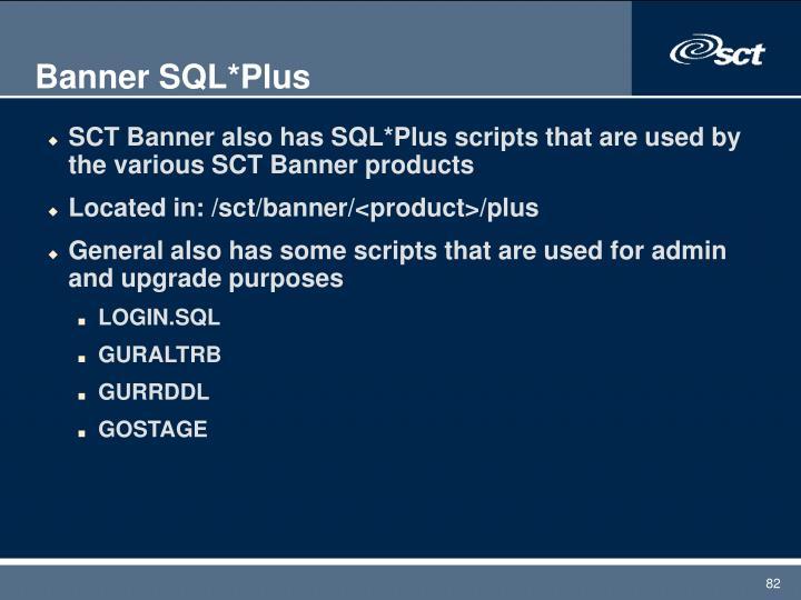 Banner SQL*Plus