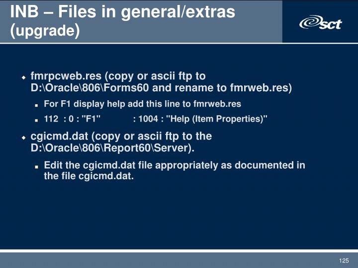 INB – Files in general/extras (