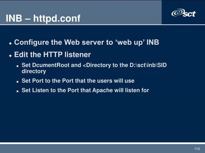 INB – httpd.conf