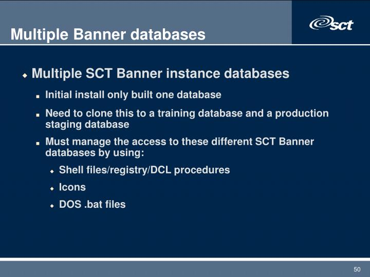 Multiple Banner databases