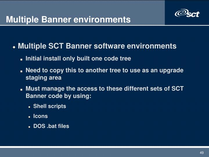 Multiple Banner environments