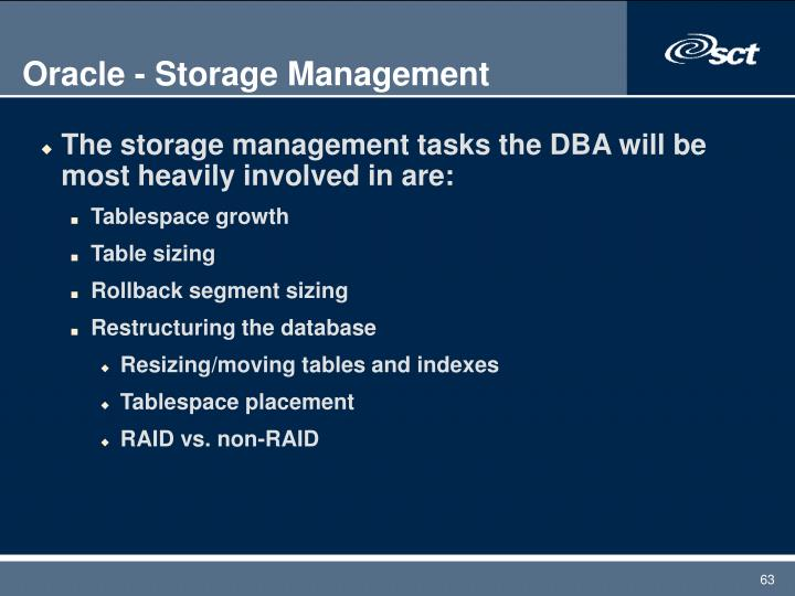 Oracle - Storage Management