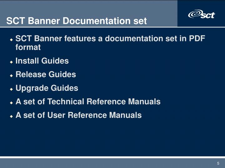 SCT Banner Documentation set