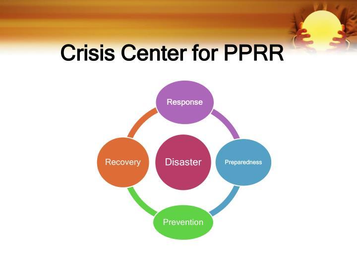 Crisis Center for PPRR