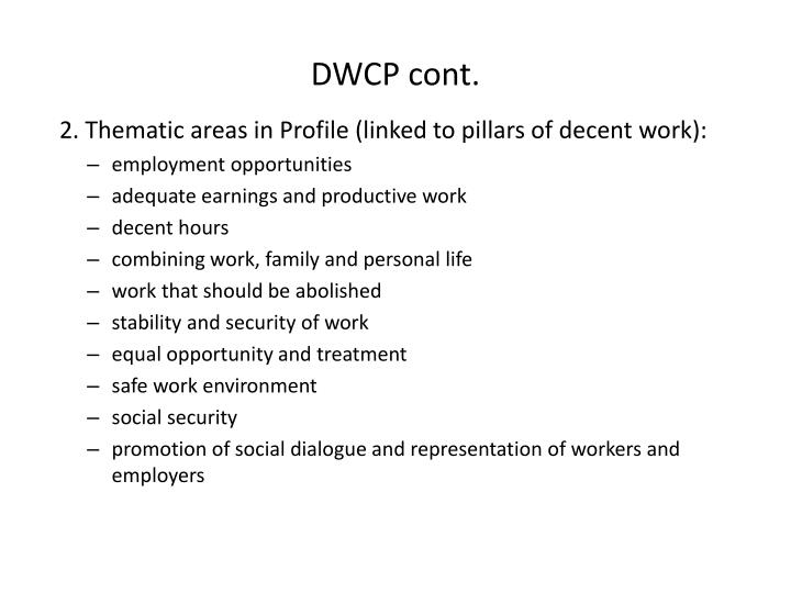 DWCP cont.