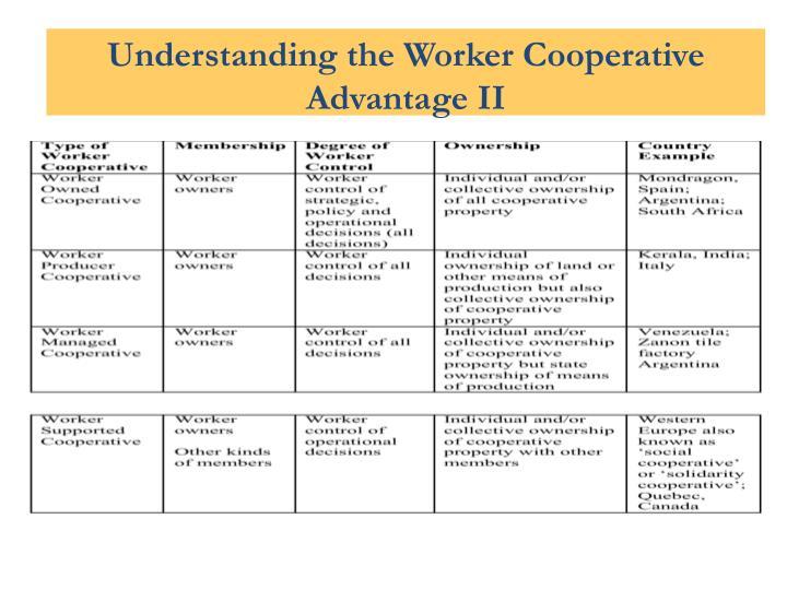 Understanding Worker Cooperative Advantage II