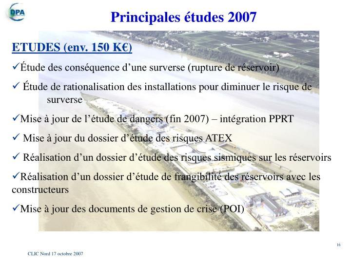 Principales études 2007