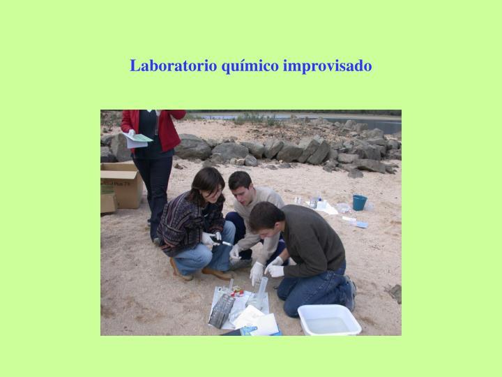 Laboratorio químico improvisado