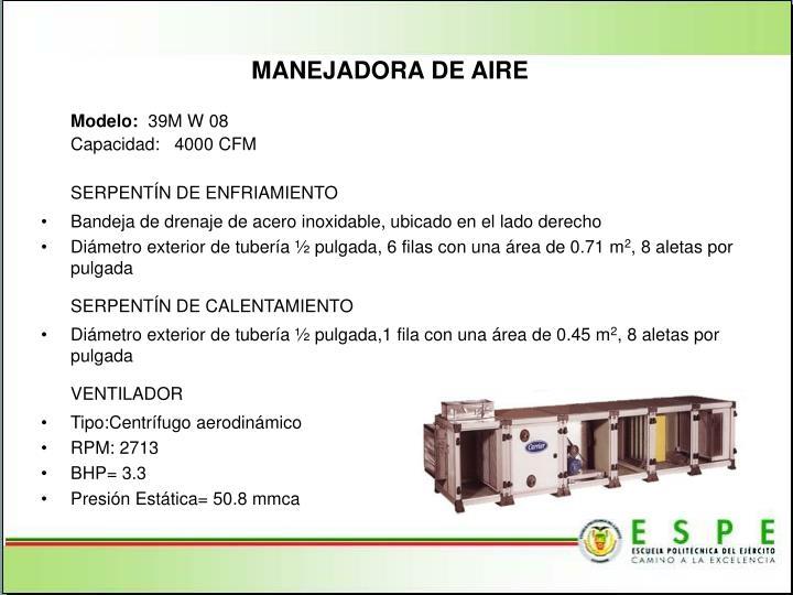 MANEJADORA DE AIRE