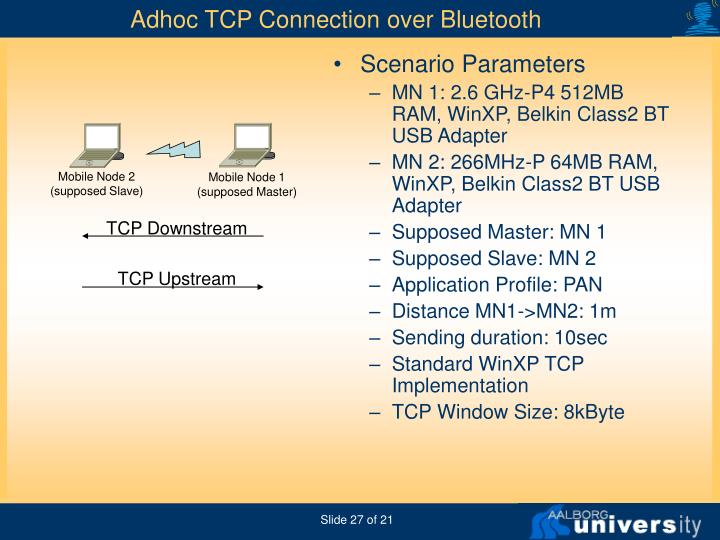Adhoc TCP Connection over Bluetooth