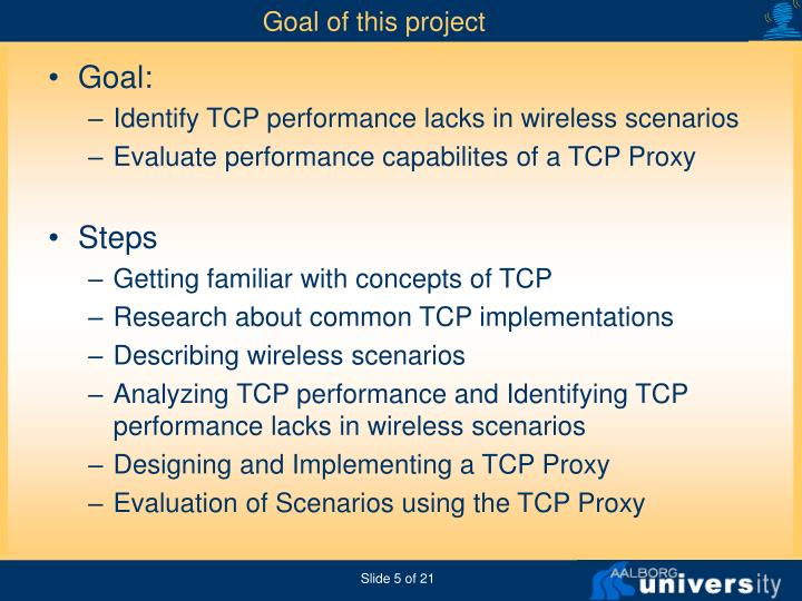 Goal of this project