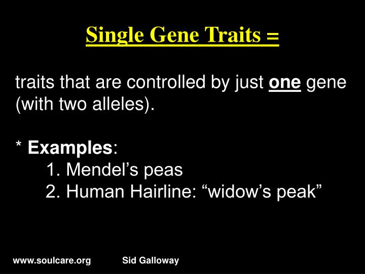 Single Gene Traits =