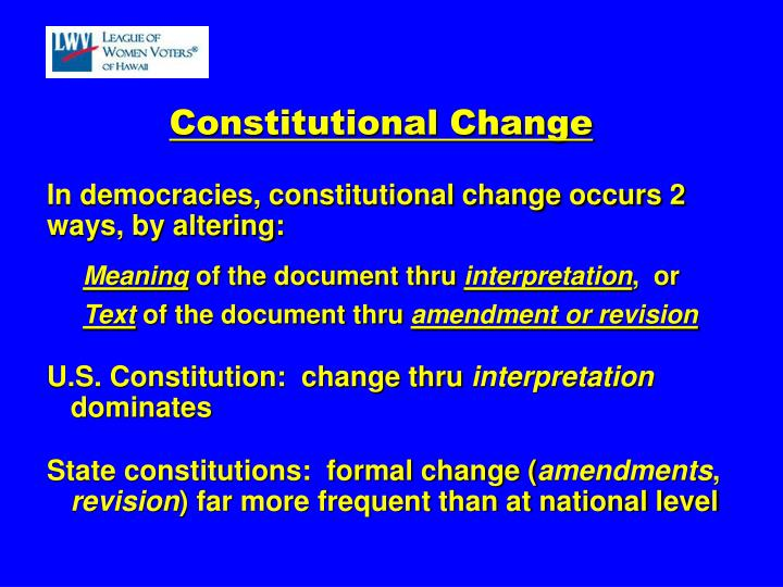 Constitutional Change
